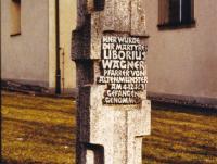 Marterl und Wegkreuze Reichmannshausen Liborius Wagner Gedenkstein